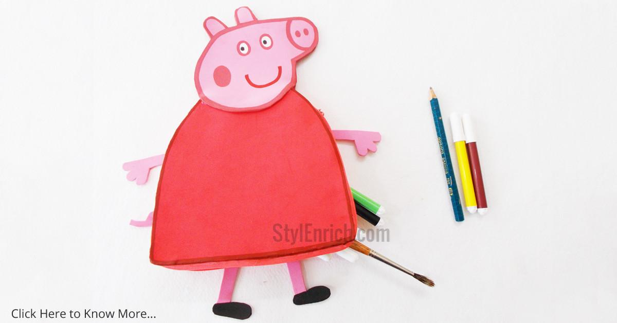 Diy Peppa Pig Pencil Pouch Kids