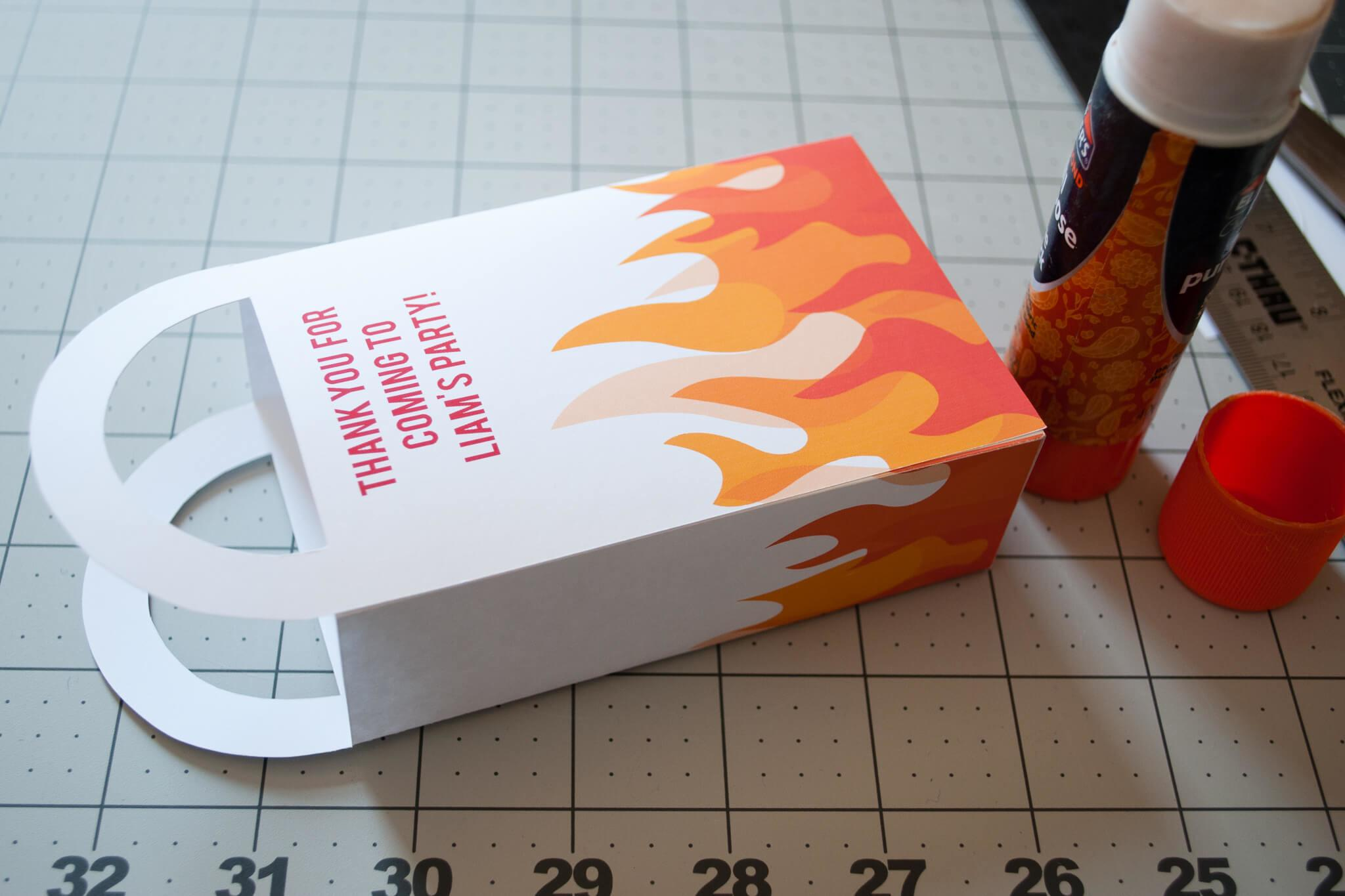 Diy Personalized Firefighter Printable Favor Bags