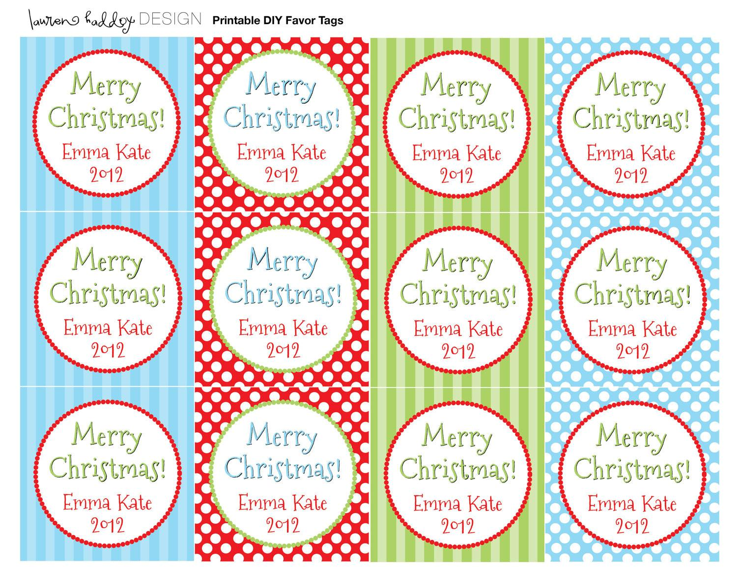 Diy Personalized Merry Christmas Favor
