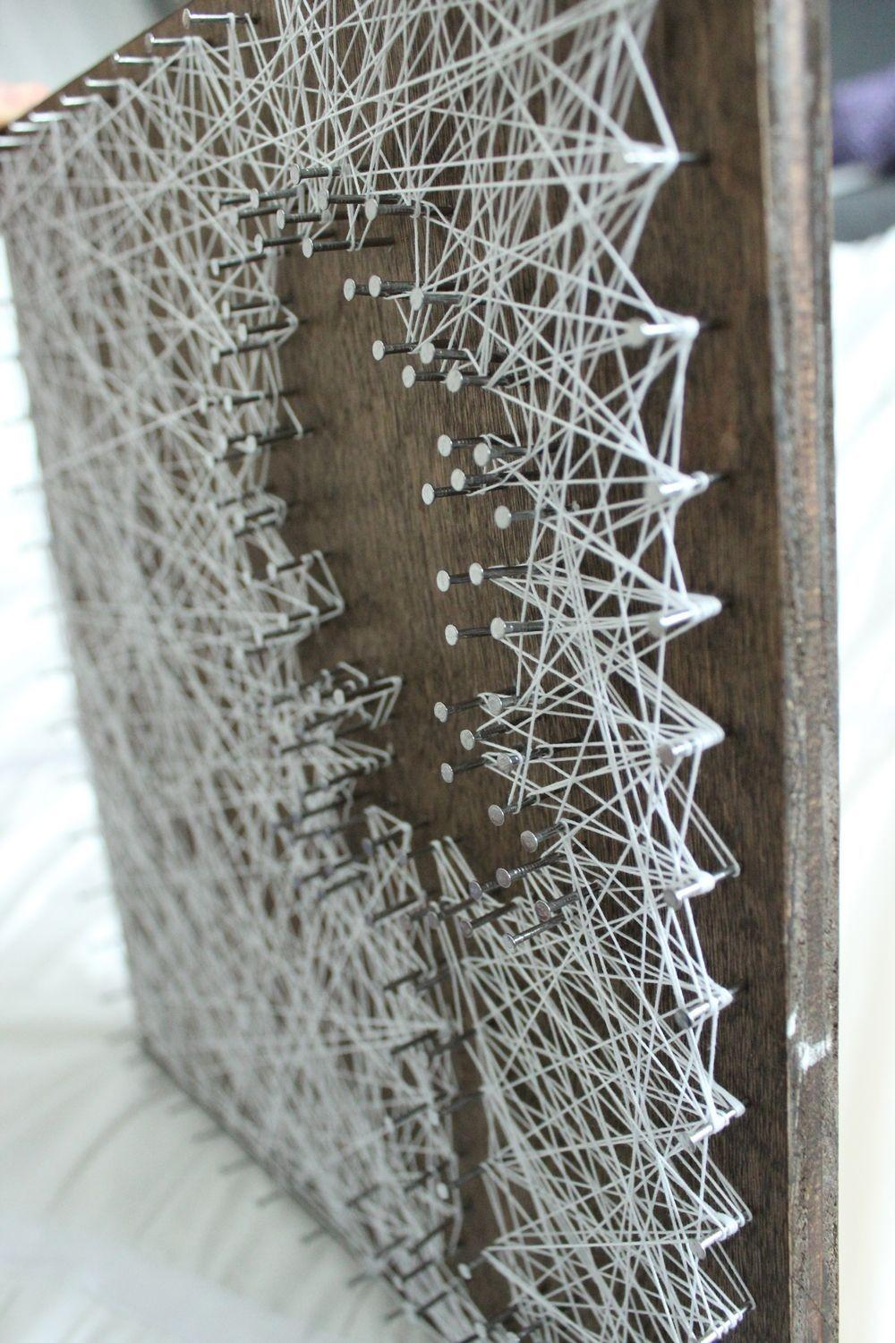 Diy Personalized String Art Tree