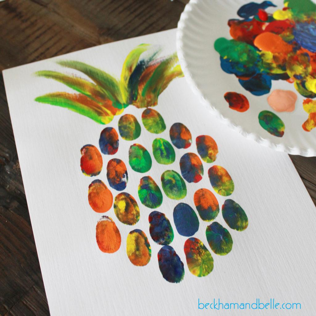 Diy Pineapple Thumbprint Art Beckham Belle