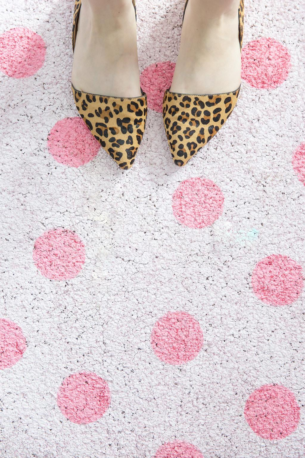 Diy Pink Polka Dot Floor Mat Best Friends Frosting