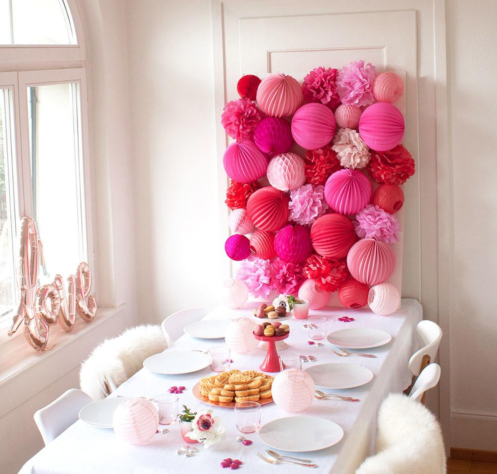 Diy Pink Red Valentine Party Wall Pizzazzerie