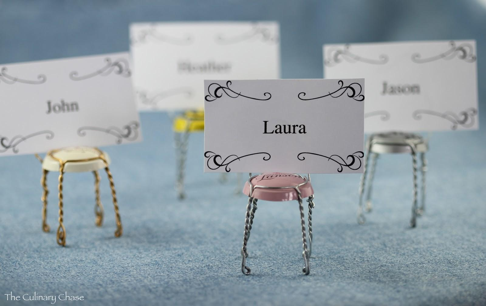 Diy Place Card Holders Bit Whimsy Culinary Chase