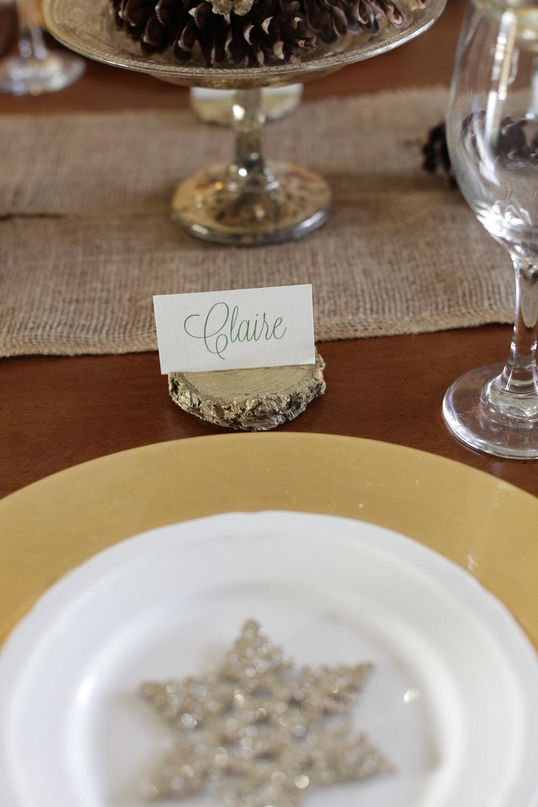 Diy Place Card Holders Wood Chips