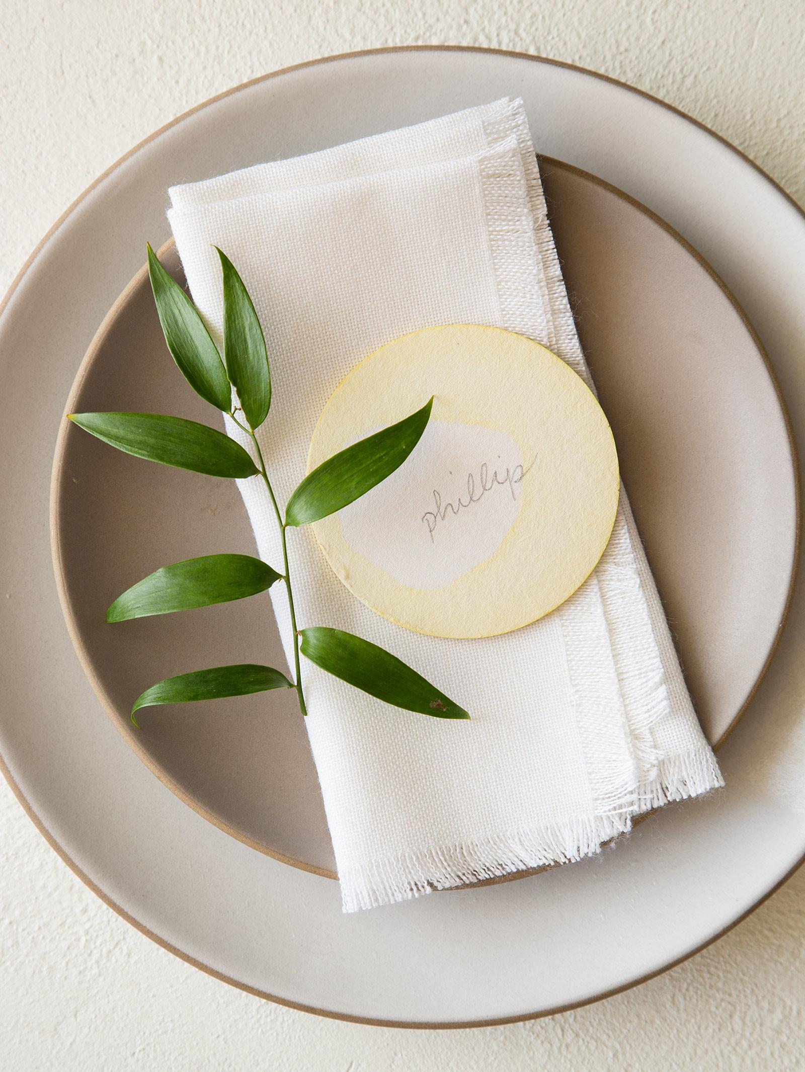 Diy Place Cards Spoon Fork Bacon