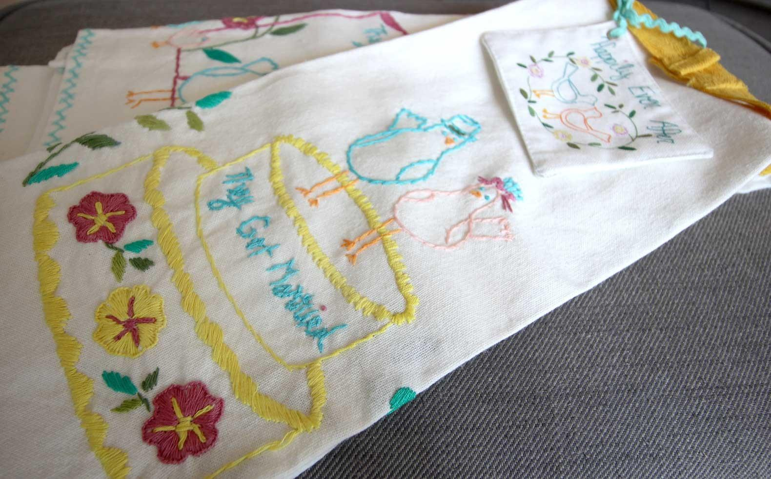 Diy Placemats Colorful Embroidery Decoist