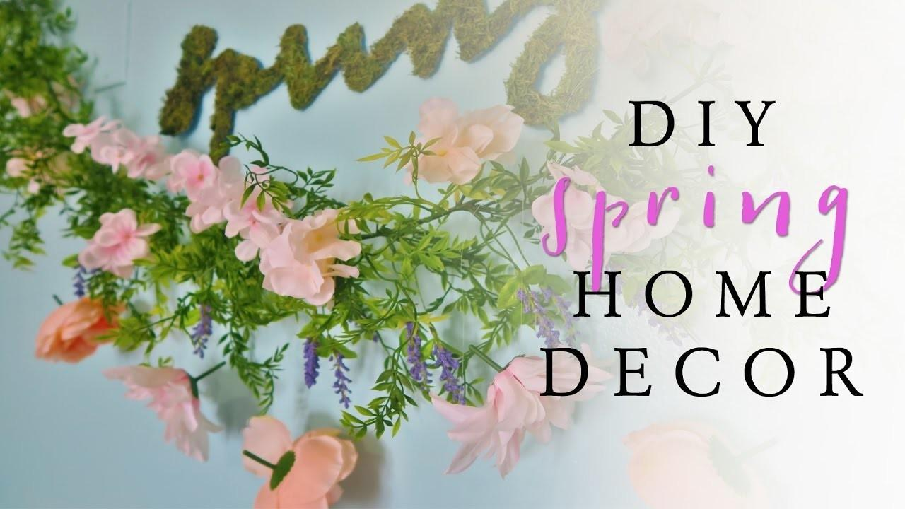 Diy Plant Wall Art Spring Room Decor Crafts