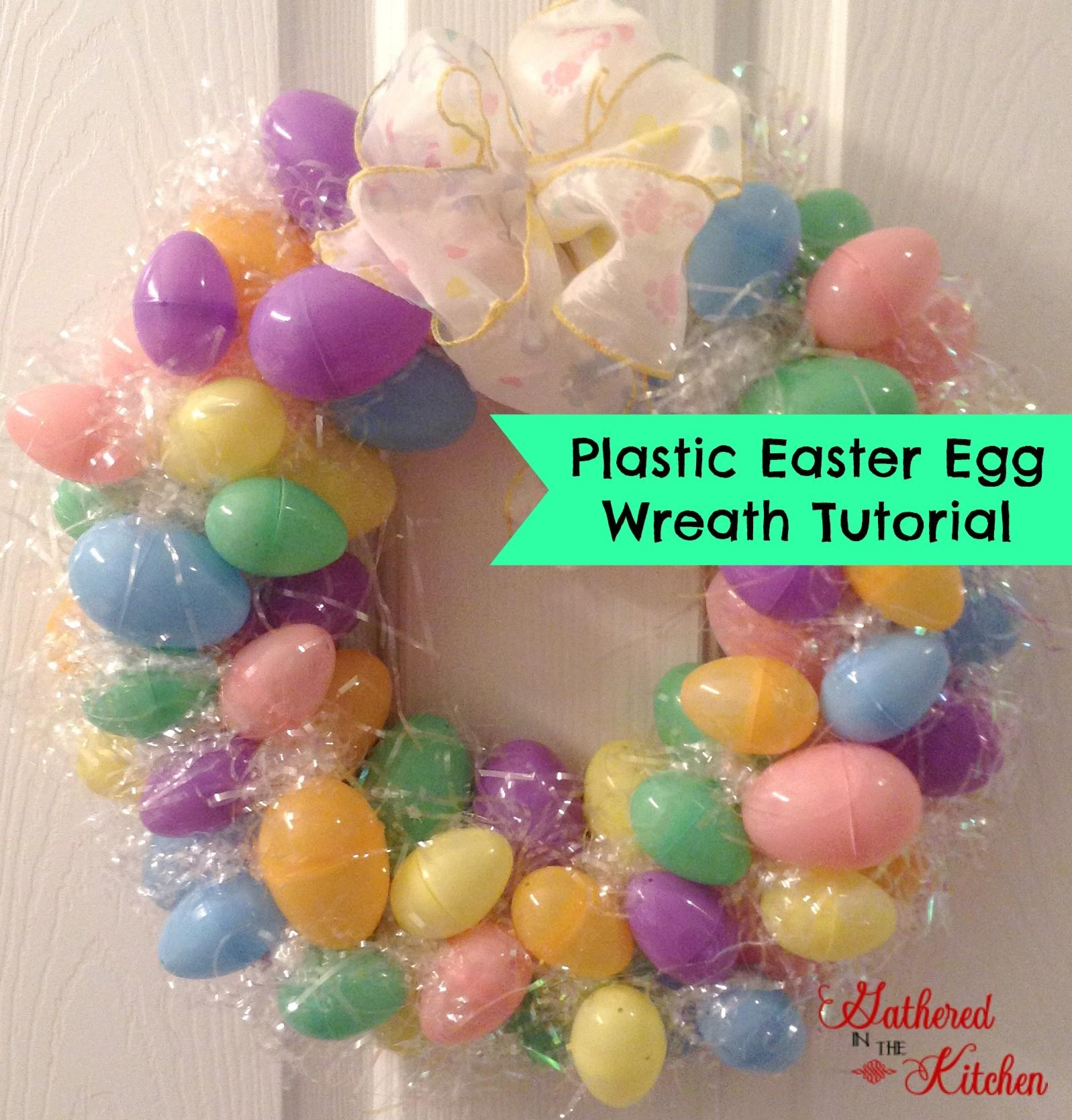 Diy Plastic Easter Egg Wreath Tutorial Blogher