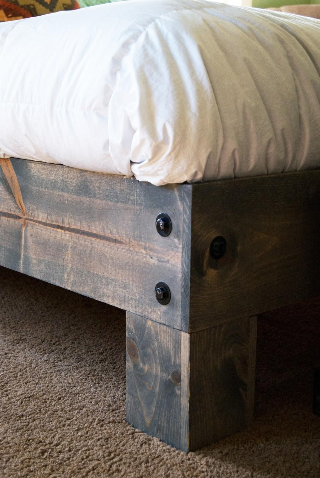 Diy Platform Bed Salvaged Door Headboard Part One