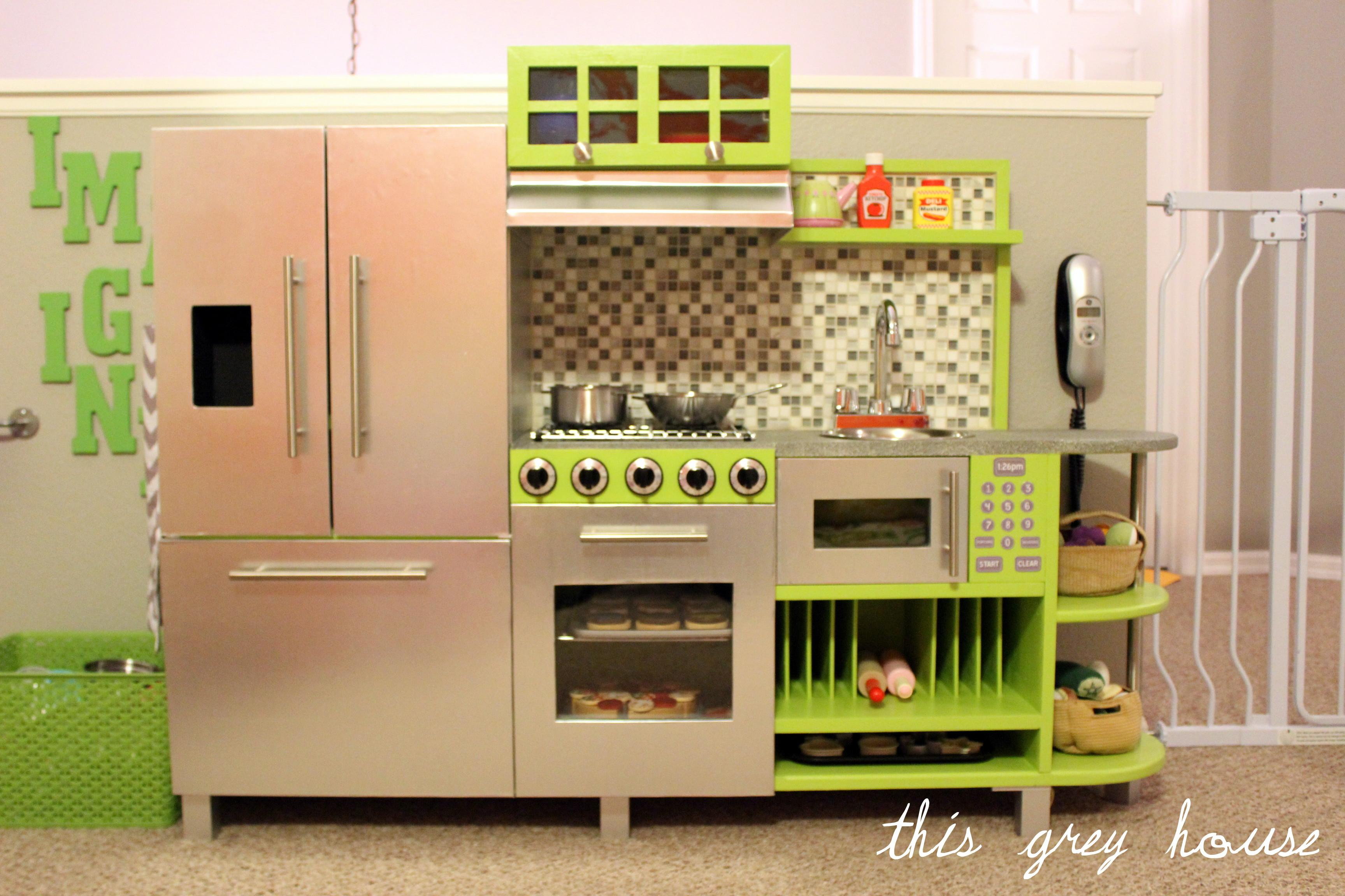 Diy Play Kitchen Grey House
