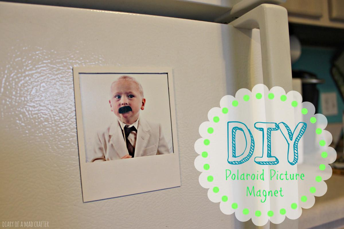 Diy Polaroid Frame Magnet Diary Mad Crafter