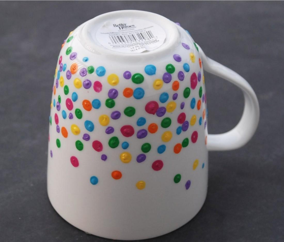 Diy Polka Dot Mug Endlessly Inspired