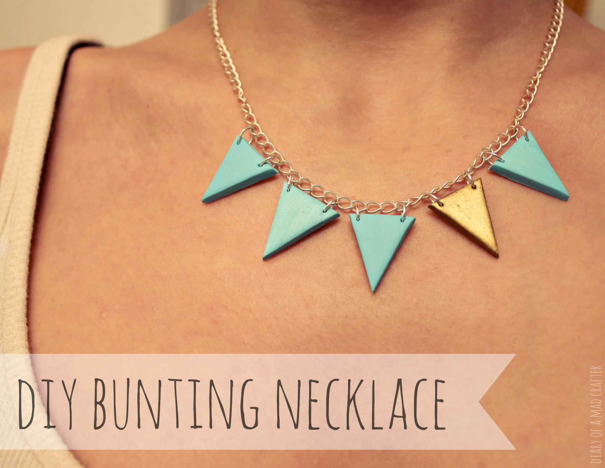 Diy Polymer Clay Bunting Necklace Diary Mad Crafter