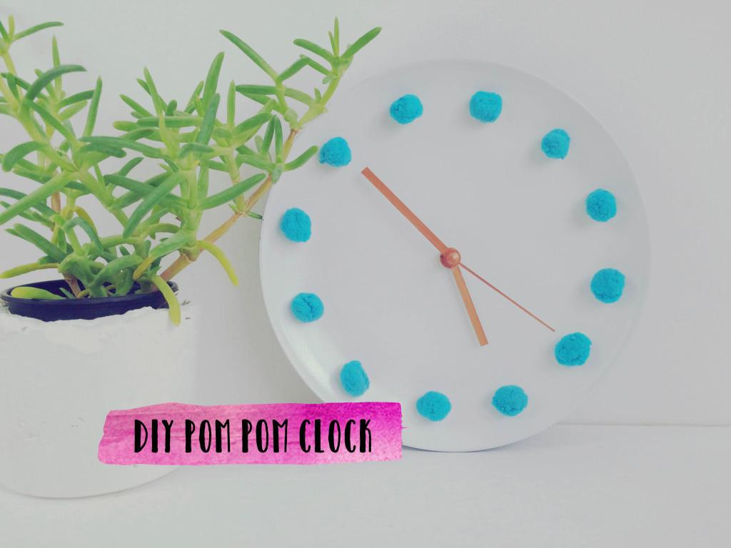 Diy Pom Clock Make Home