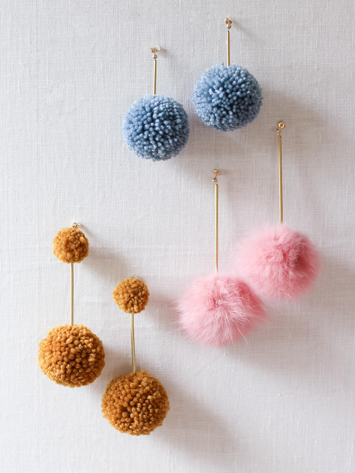 Diy Pom Earrings
