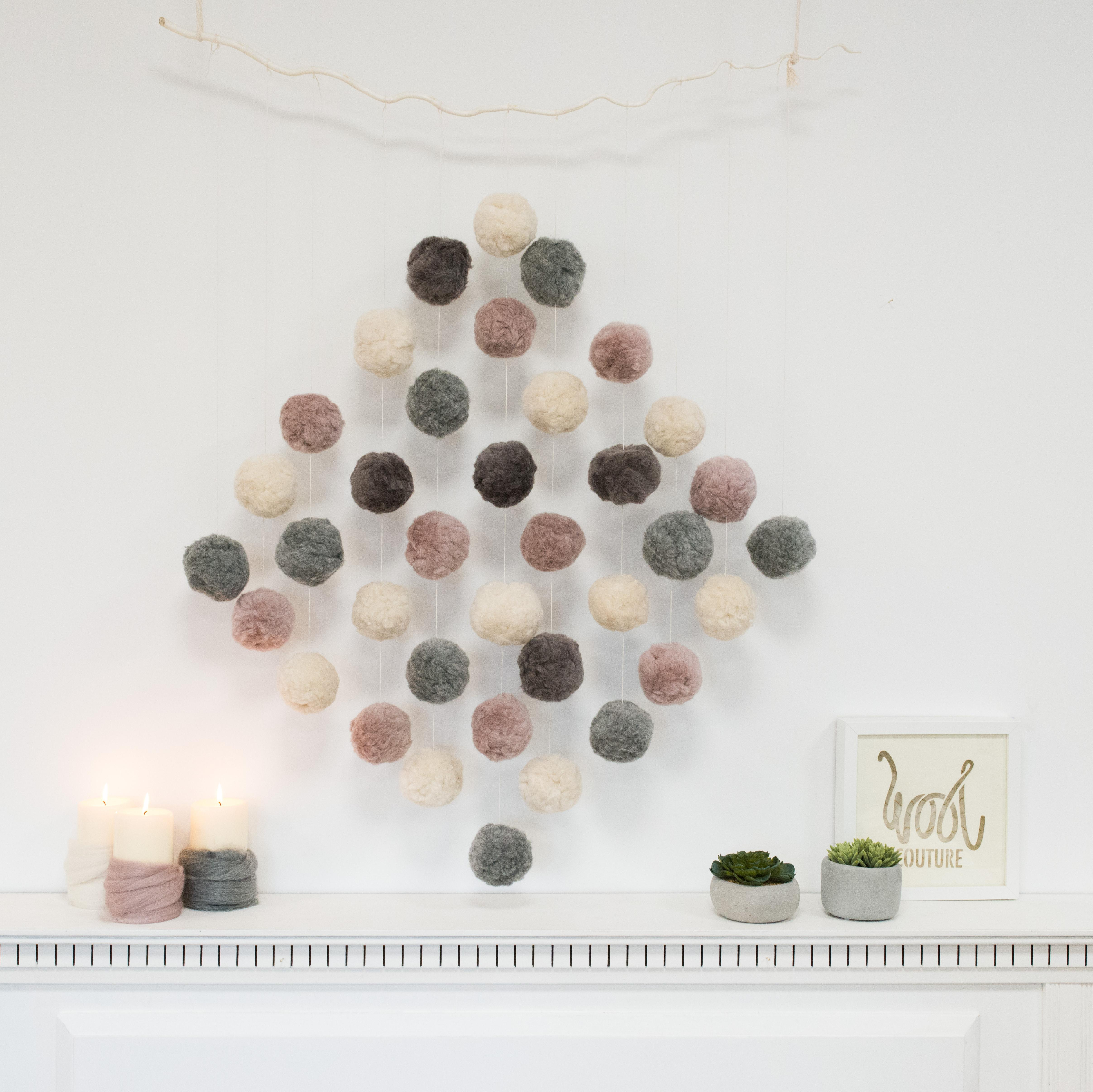 Diy Pompom Wall Hanging Wool Couture