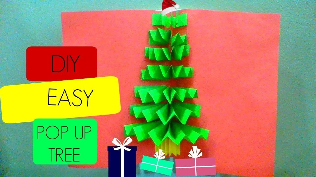 Diy Pop Christmas Tree Card Cards Very Easy