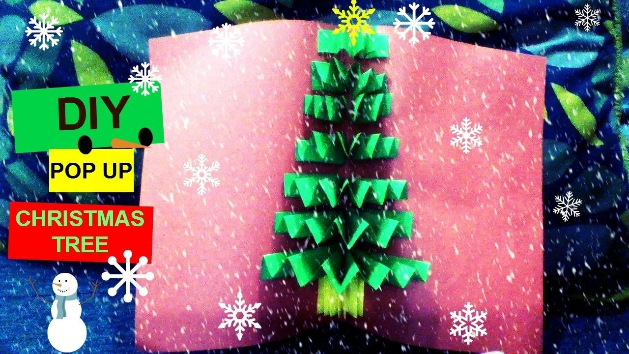 Diy Pop Christmas Tree Card Shorter Version