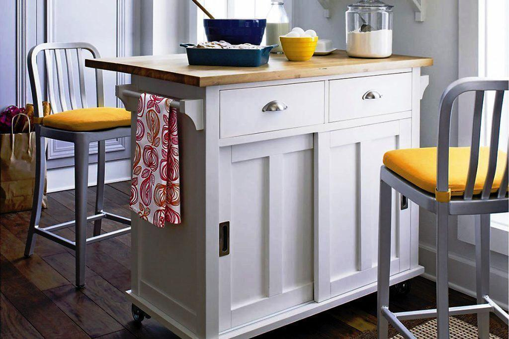 Diy Portable Kitchen Island Storage Seating