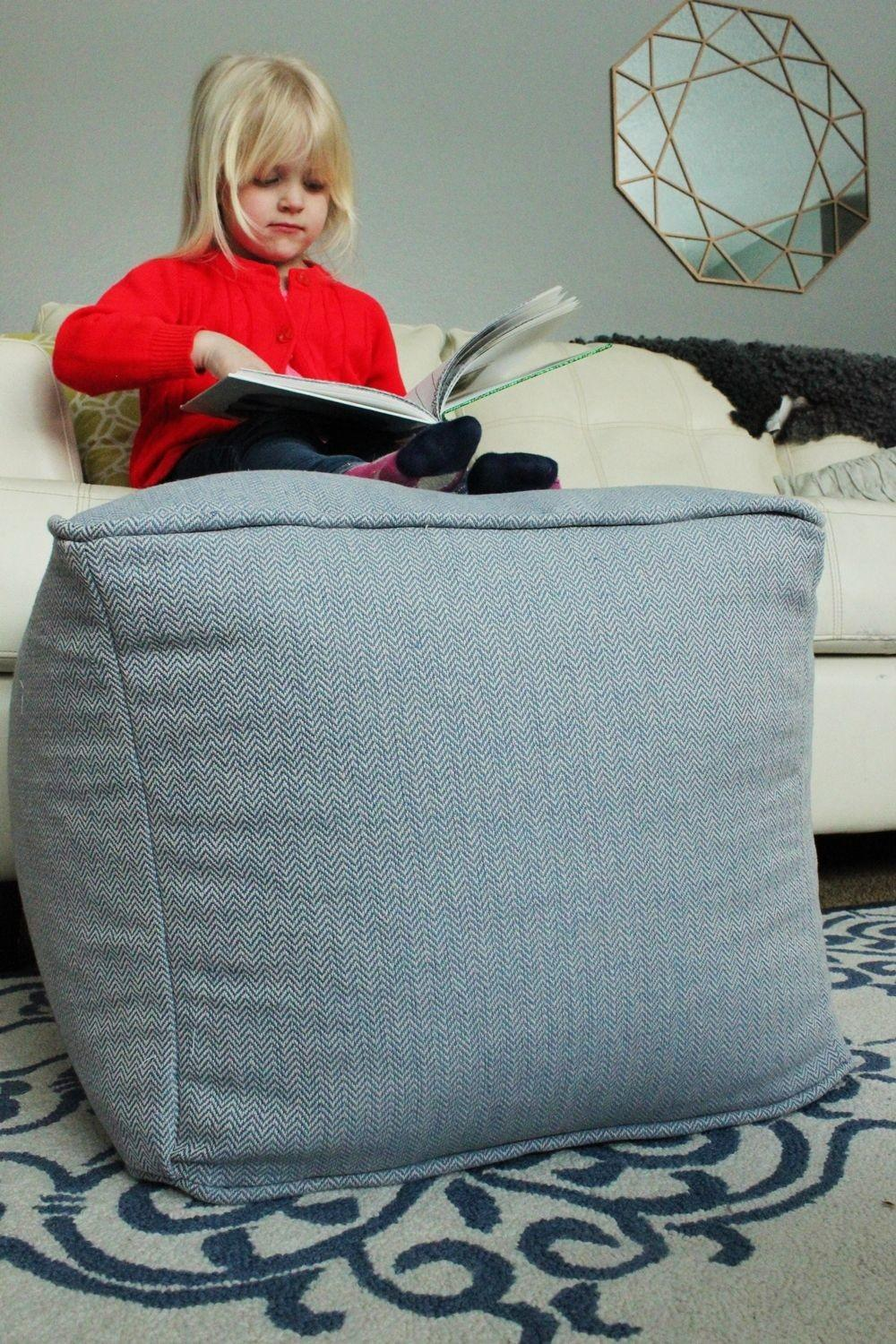Diy Pouf Ottoman Cube Floor Home Decorating Trends