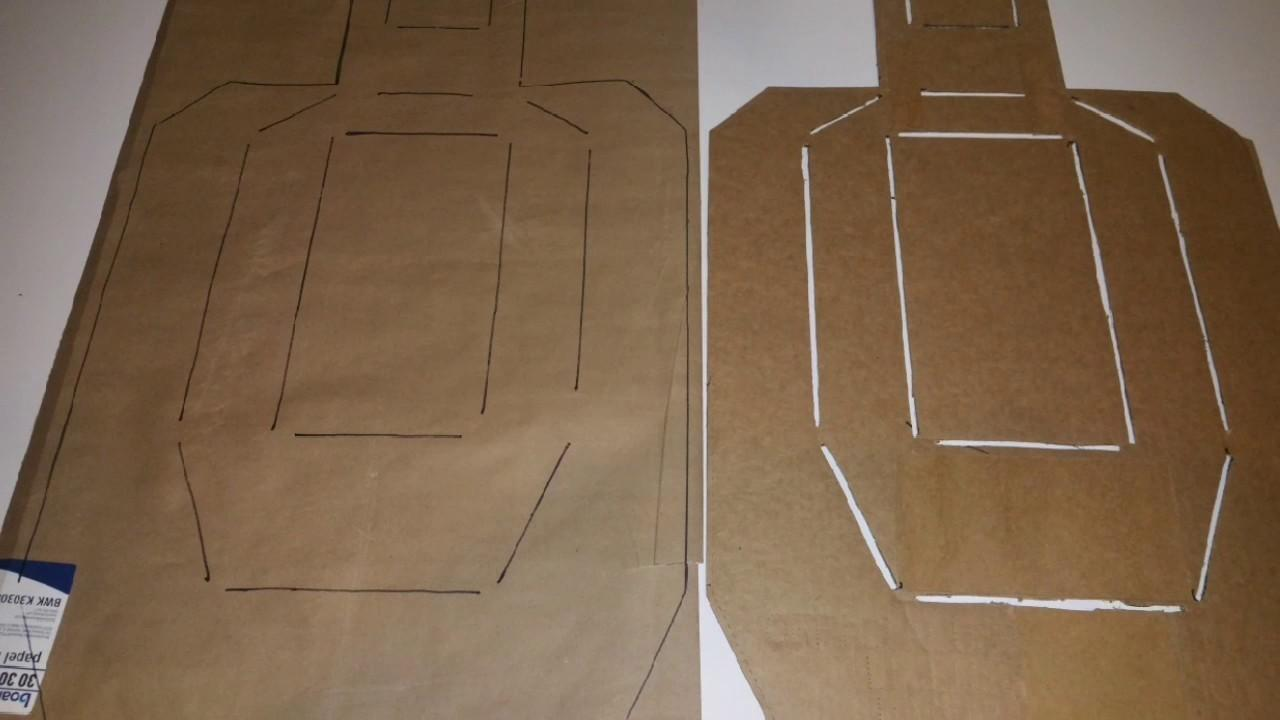 Diy Practice Uspsa Paper Target Crafts Projects