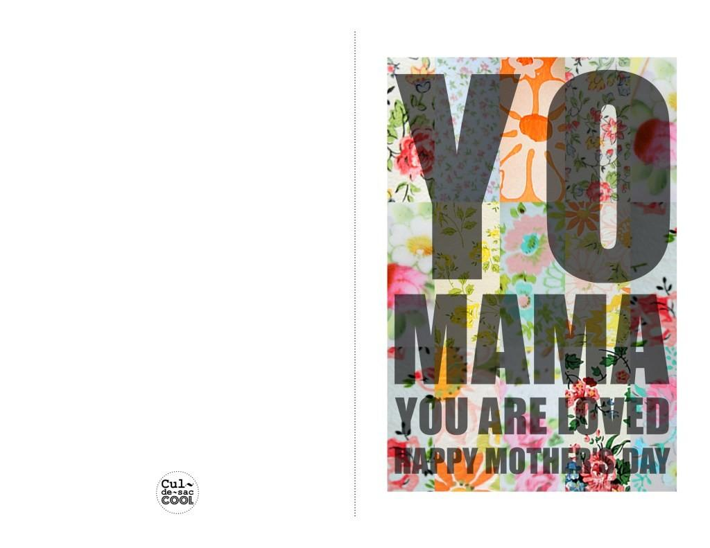 Diy Printable Mother Day Card Mama