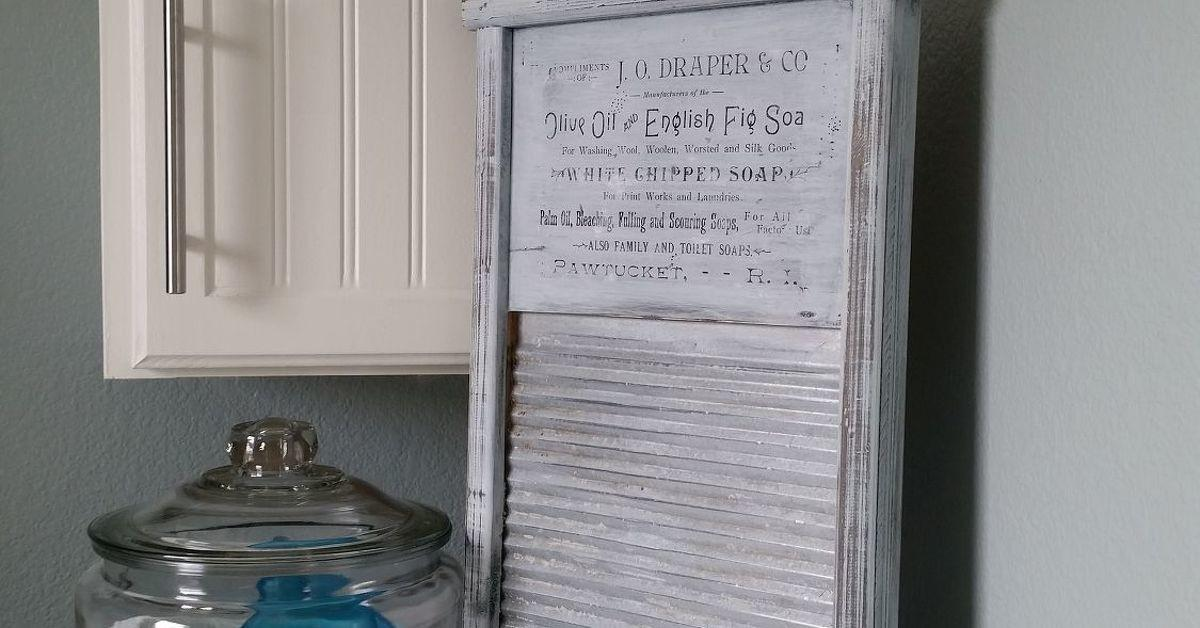 Diy Printed Vintage Sign Transfer Washboard