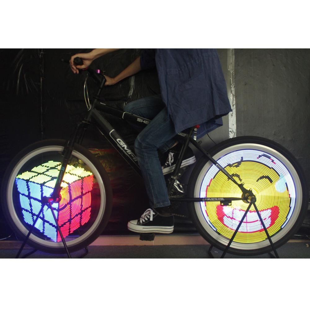 Diy Programmable Bike Bicycle Colorful Wheel Tire Led