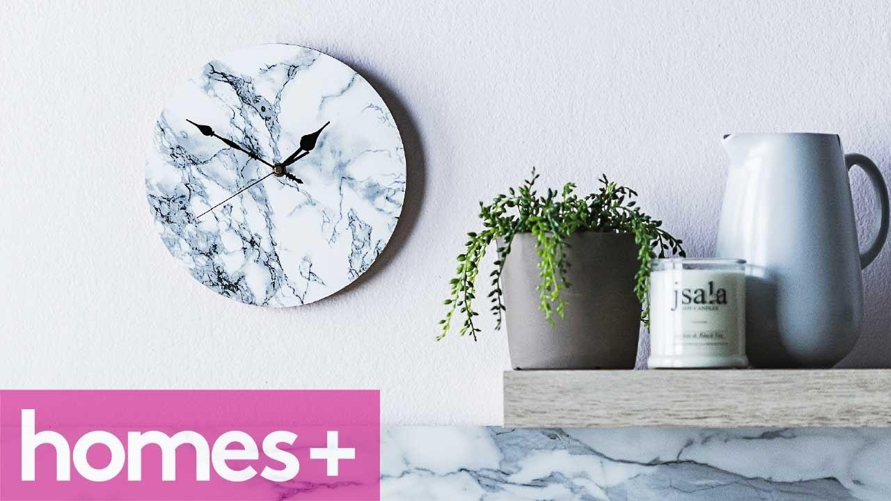Diy Project Faux Marble Clock Homes