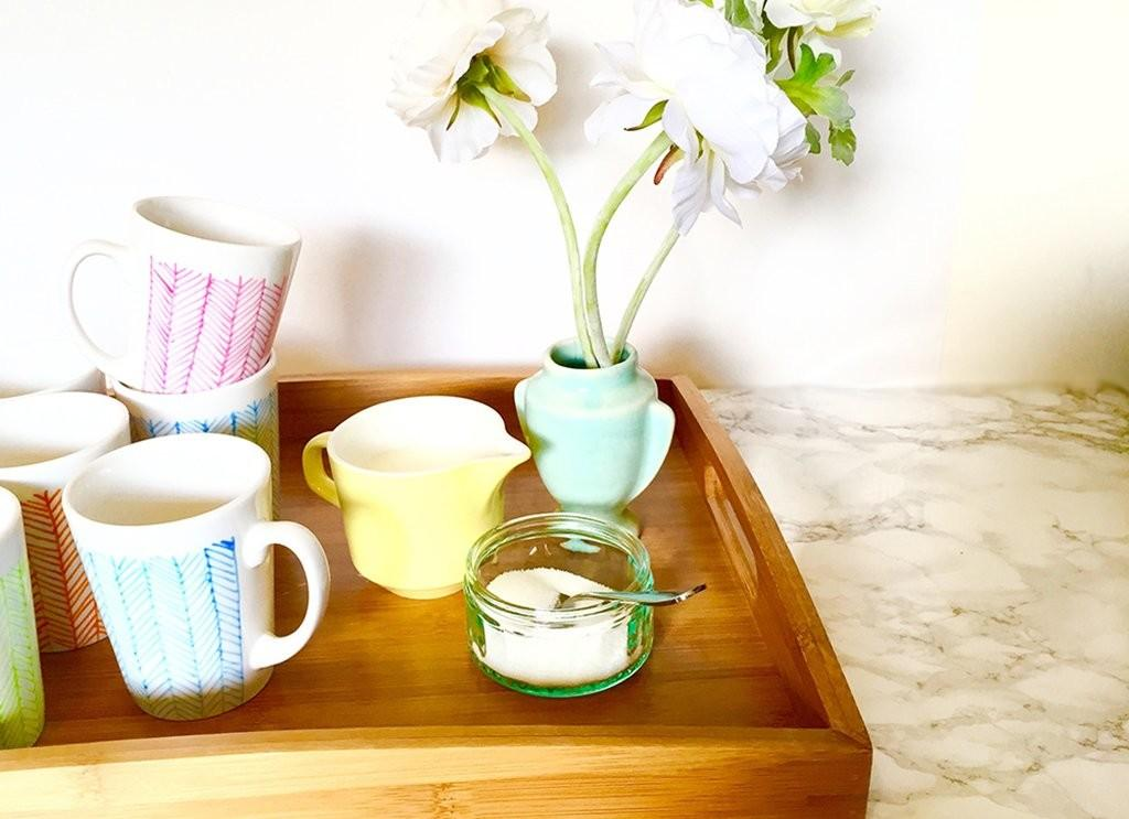 Diy Project Hand Painted Cups Clever Poppy
