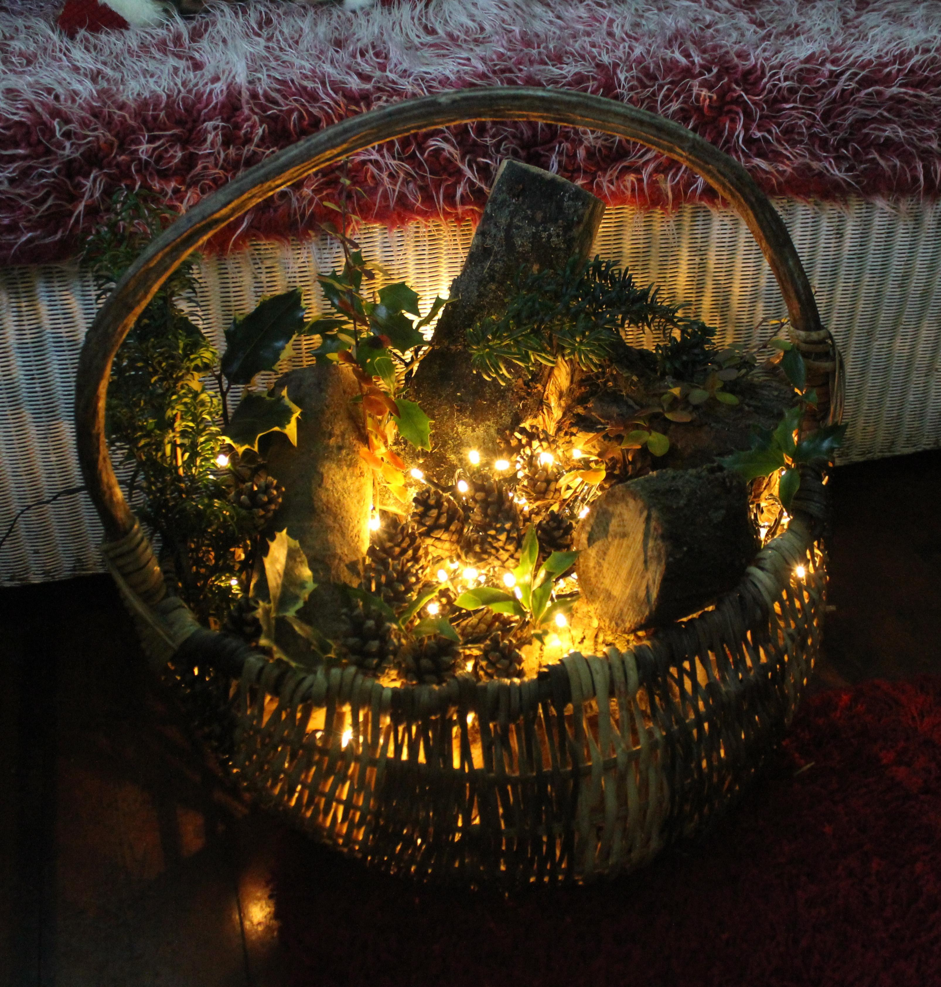 Diy Project Make Rustic Basket Decoration Christmas