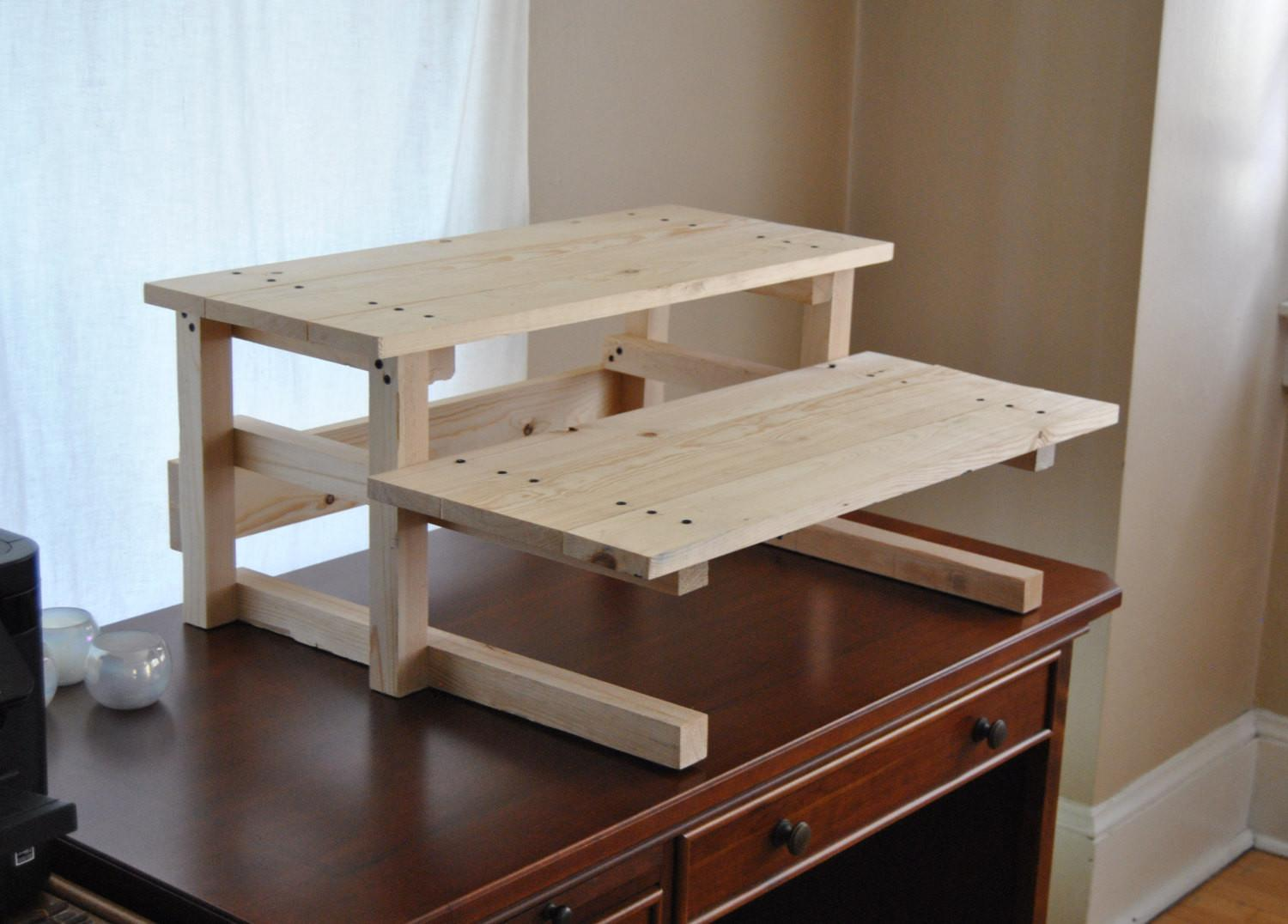 Diy Project Plan Two Monitor Standing Computer Desk