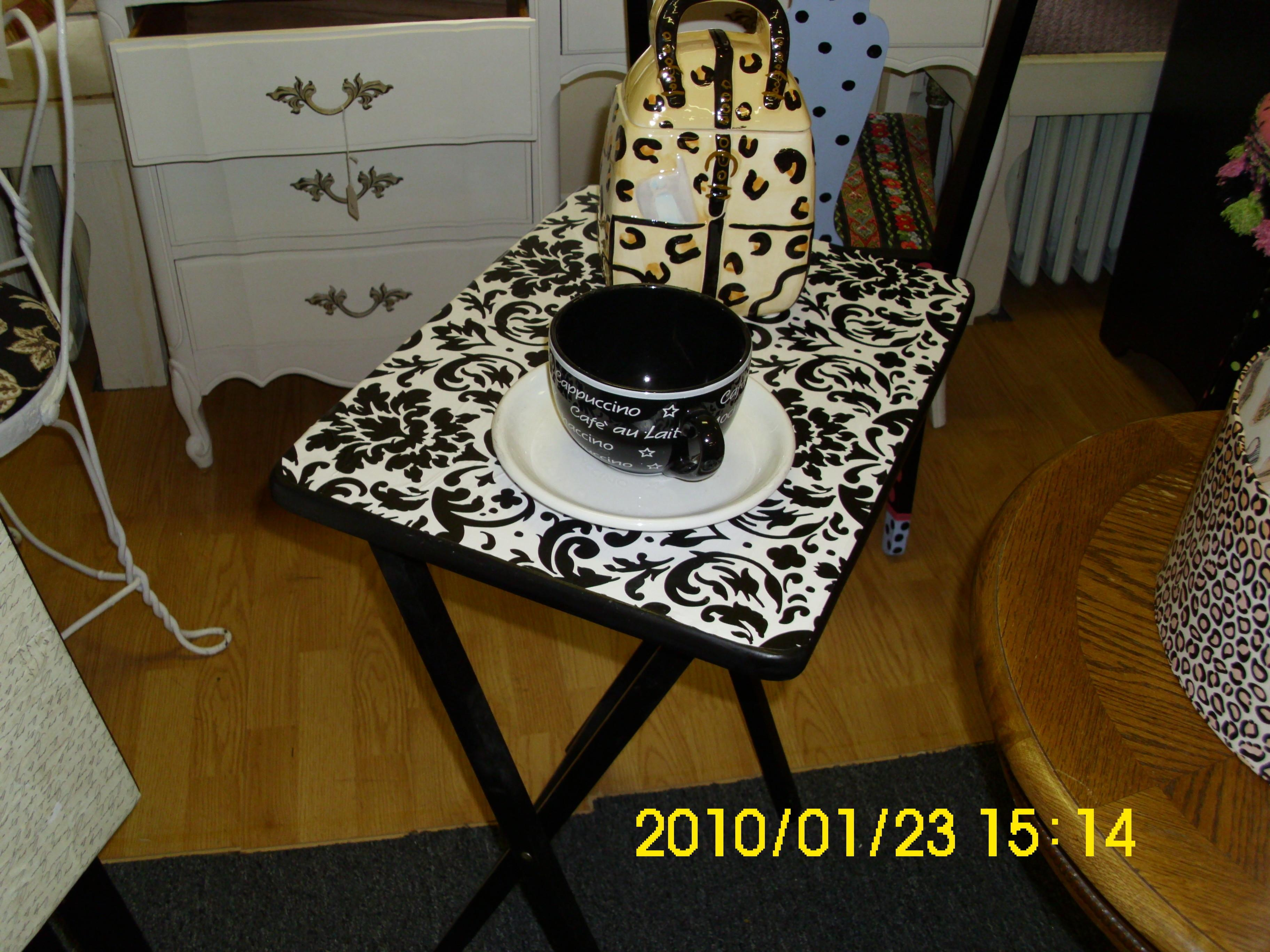 Diy Project Tray Table Decoupage Makeover Actual