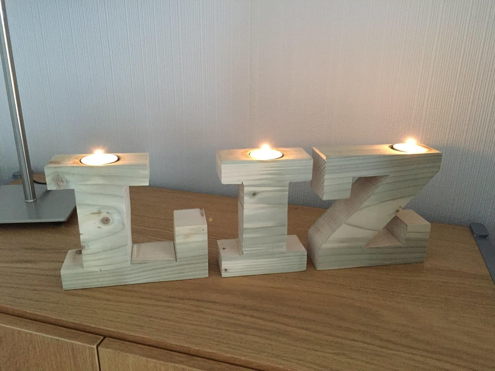 Diy Projects Stuff Tea Light Candle Letter Holders