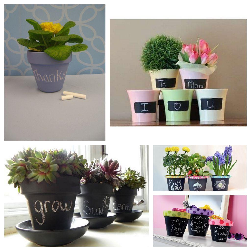 Diy Projects Unique Chalkboard Pot Centerpiece Ideas