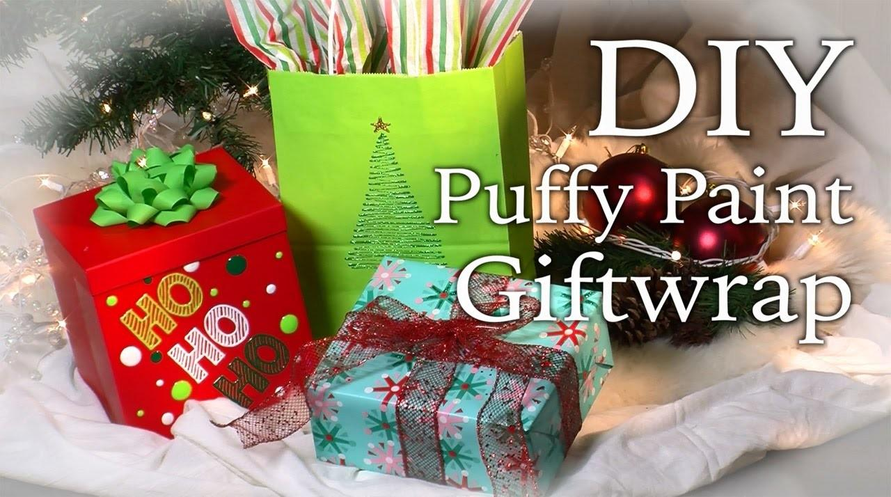 Diy Puffy Paint Giftwrap