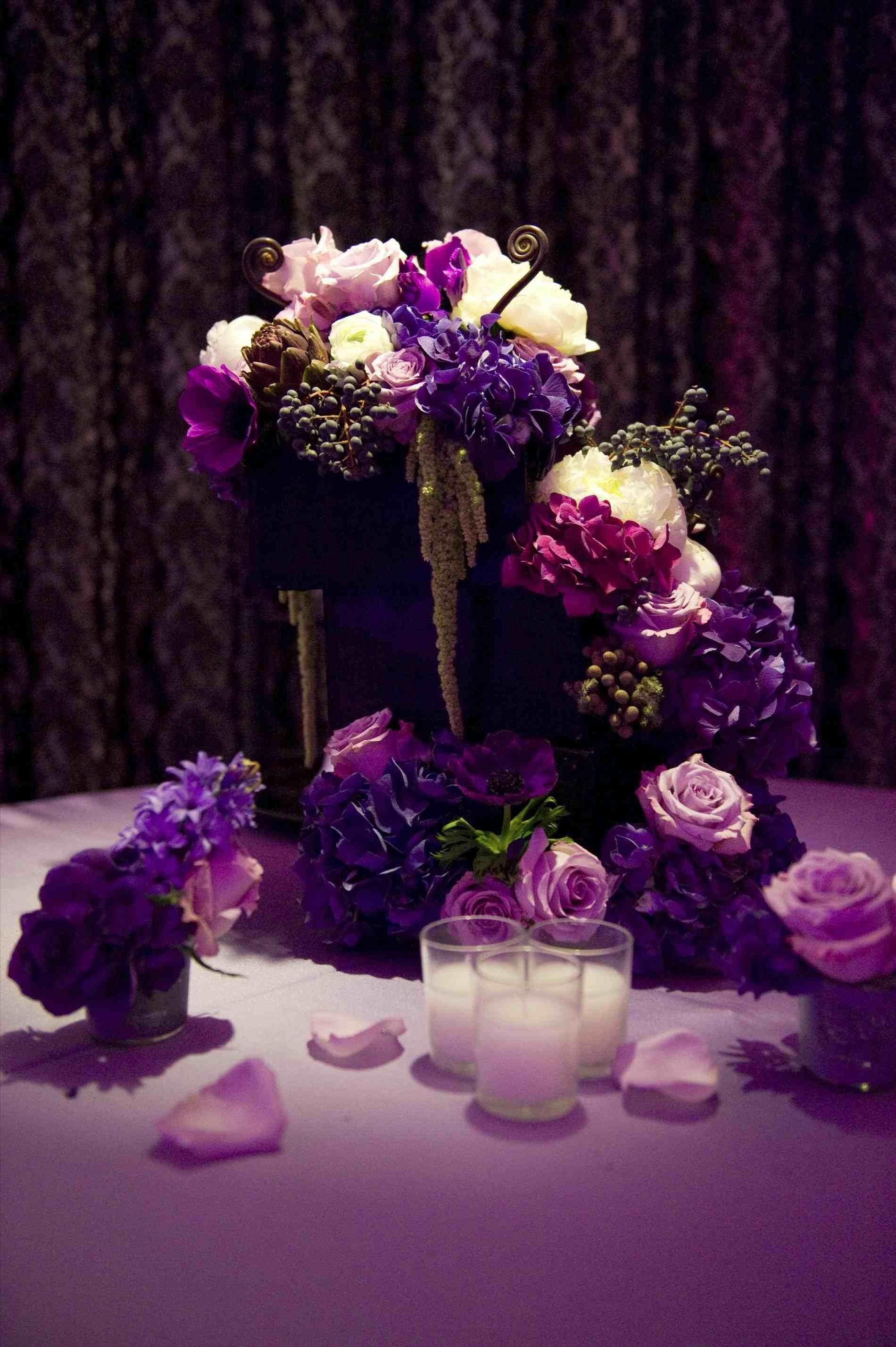 Diy Purple Wedding Decorations Siudy