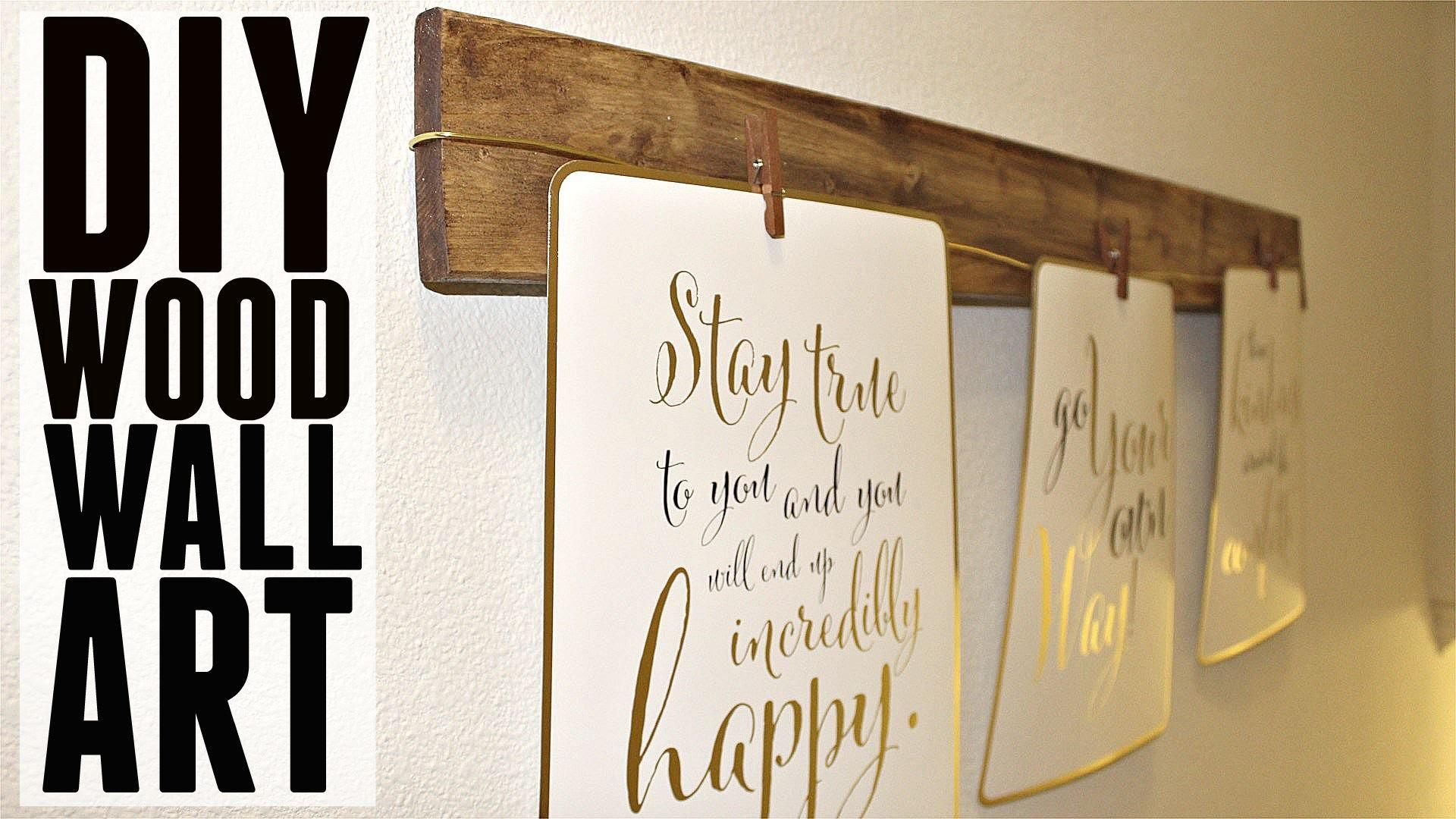 Diy Quick Easy Wood Wall Art