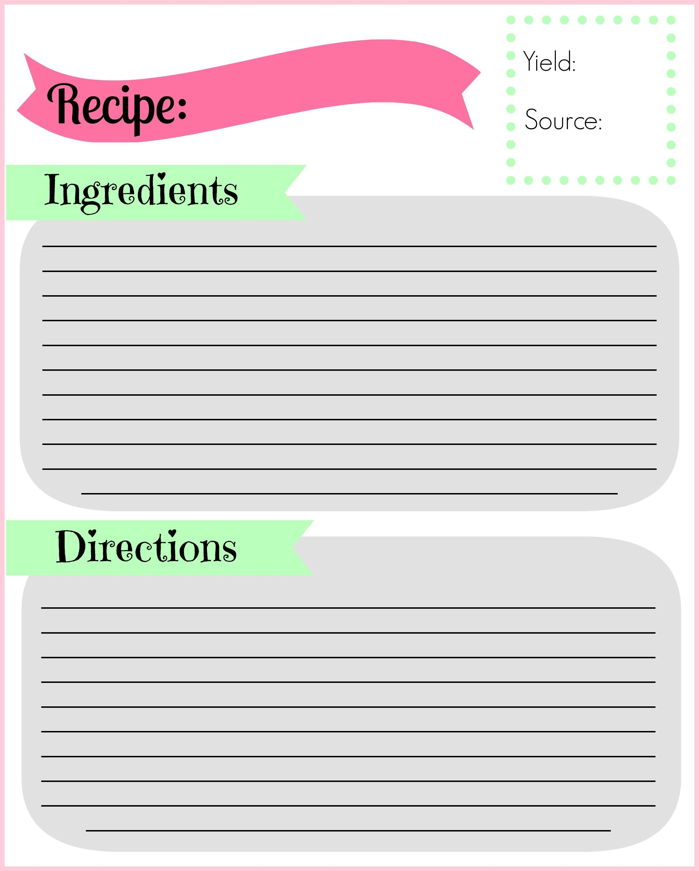 Diy Recipe Binder Pocketful Motherhood