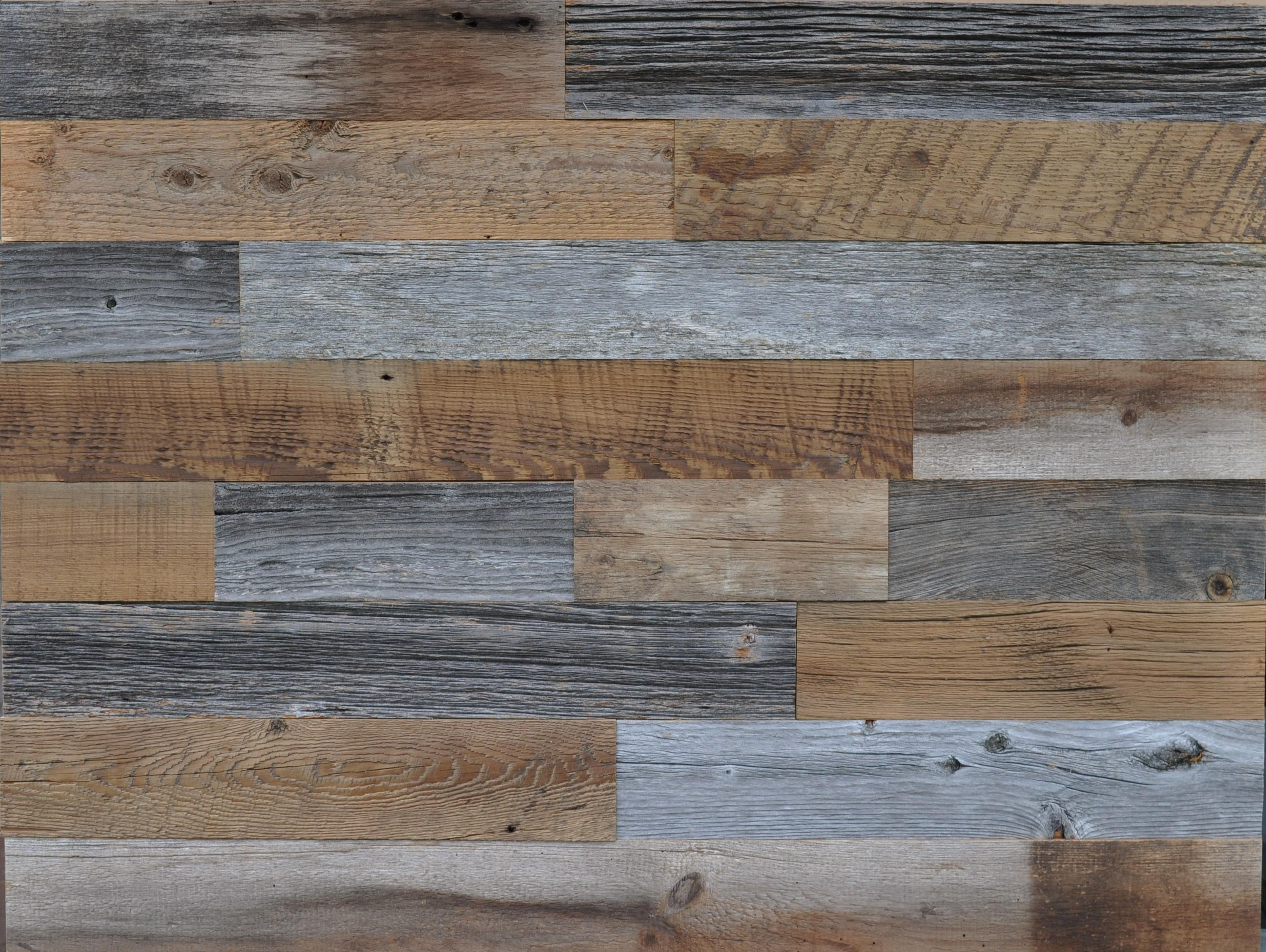 Diy Reclaimed Wood Accent Wall Grey Brown Natural
