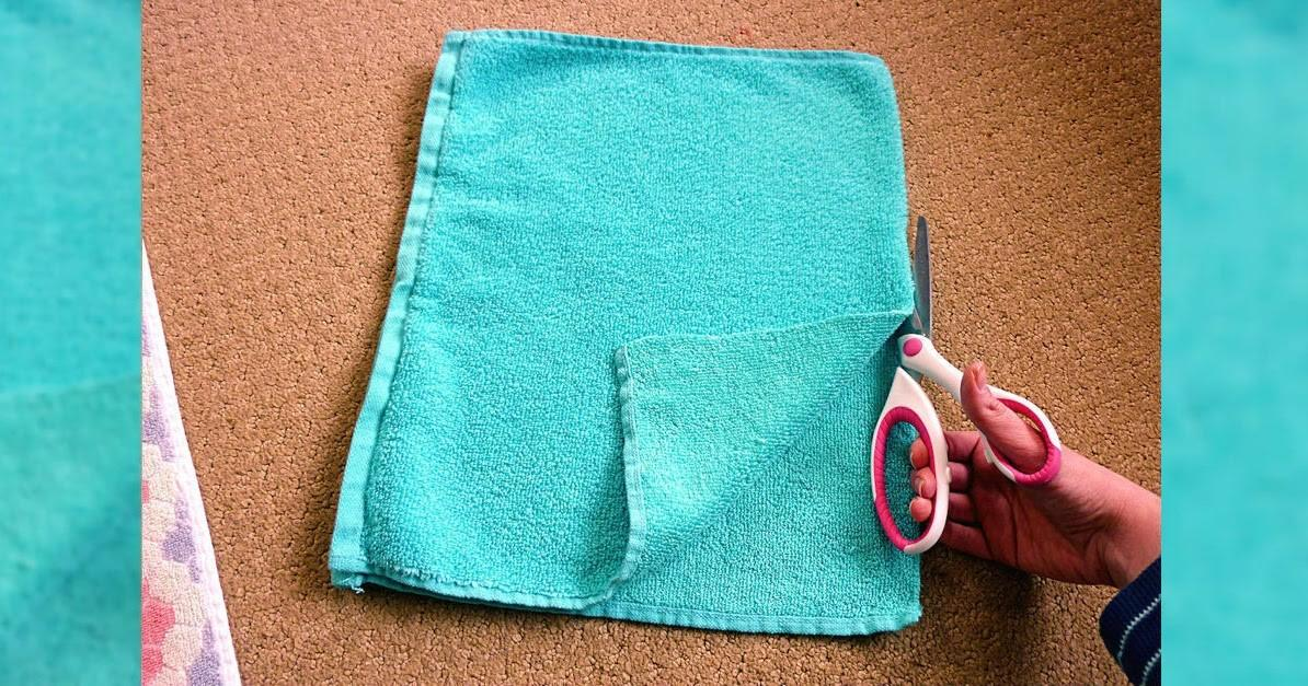Diy Recycled Bath Towel Rug Craft Projects
