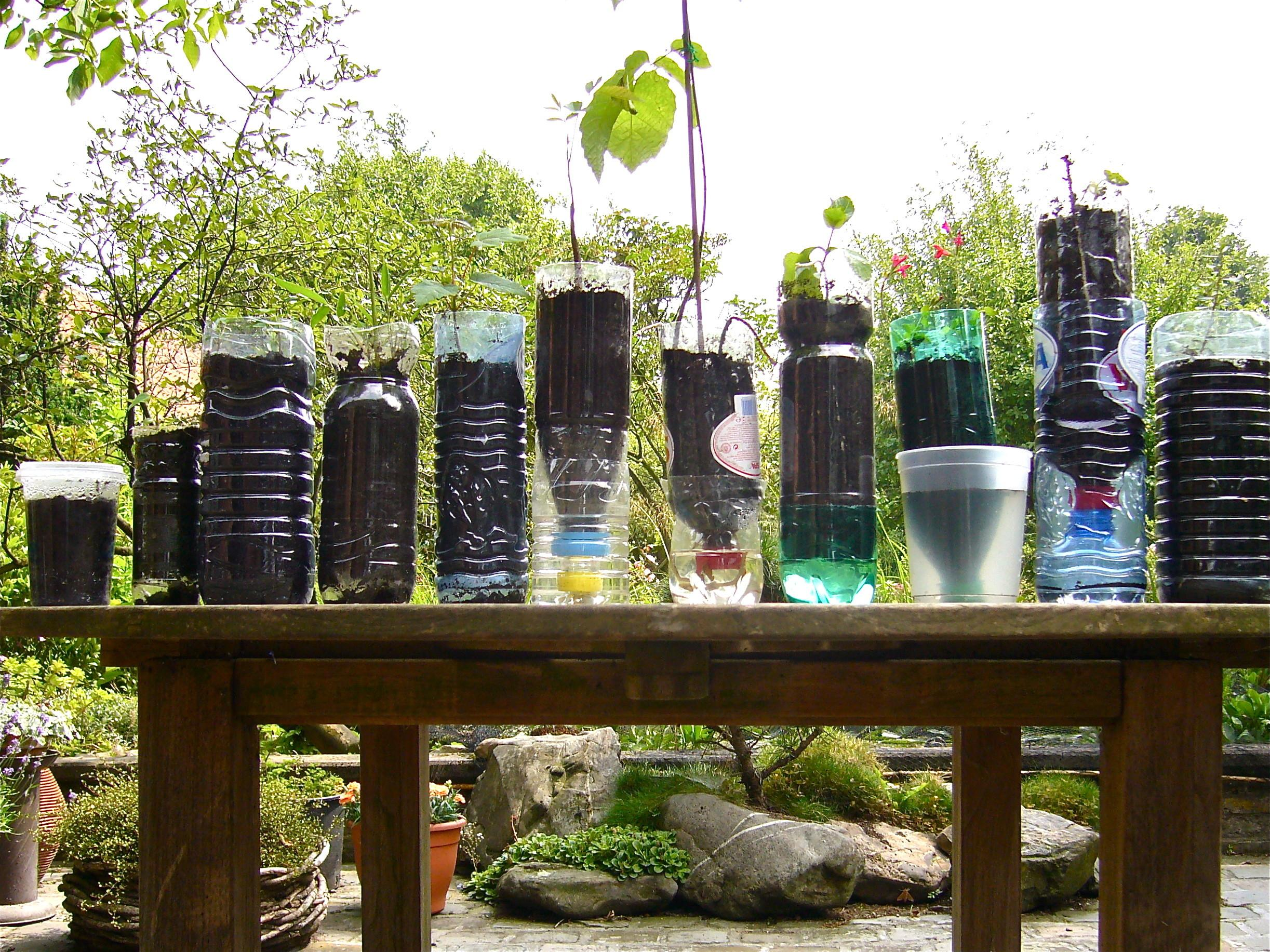 Diy Recycled Bottles Pots Trays Organic Container