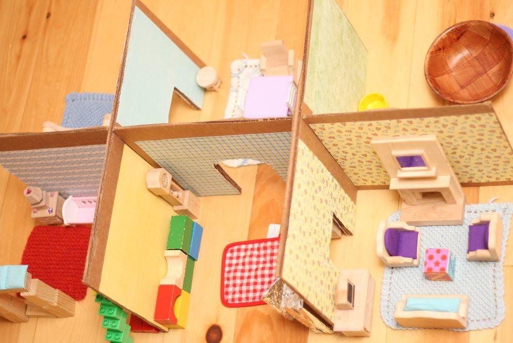 Diy Recycled Cardboard Dollhouse Simply Serina