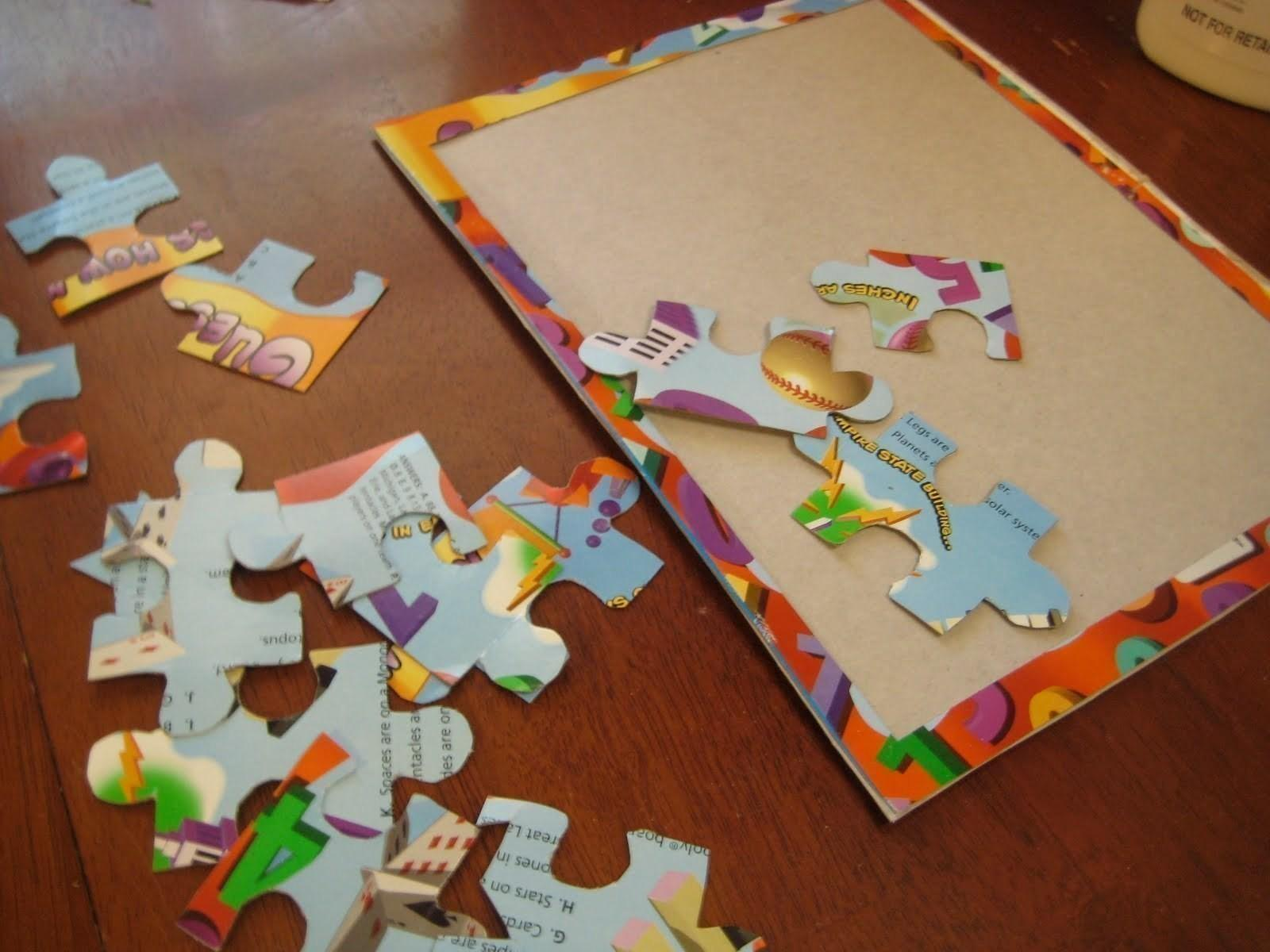 Diy Recycled Cereal Box Puzzle Make
