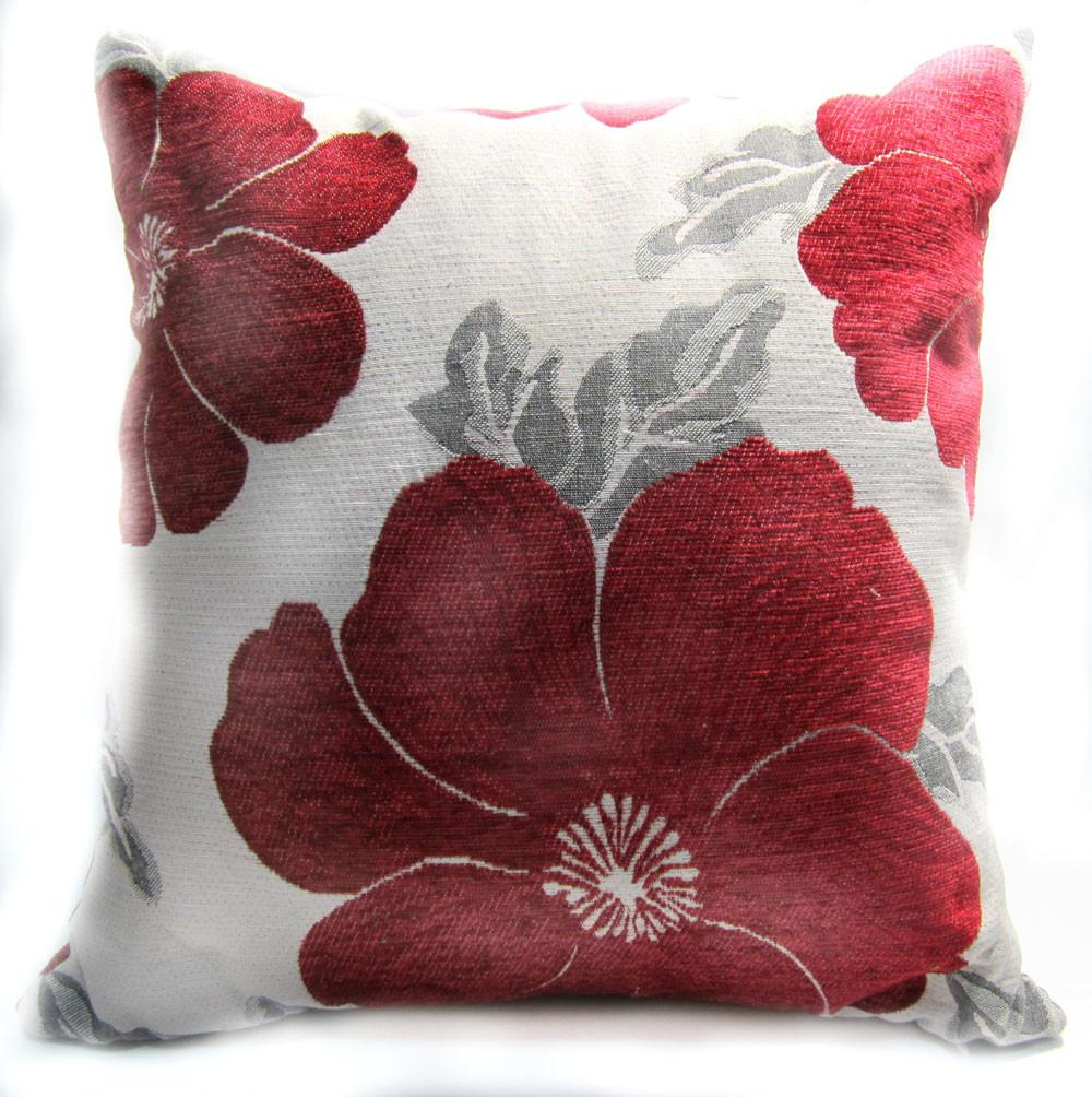 Diy Red Grey Throw Pillows Savary Homes