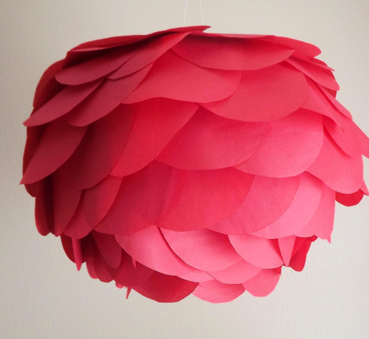 Diy Red Hanging Paper Lantern Kit Flower Garden
