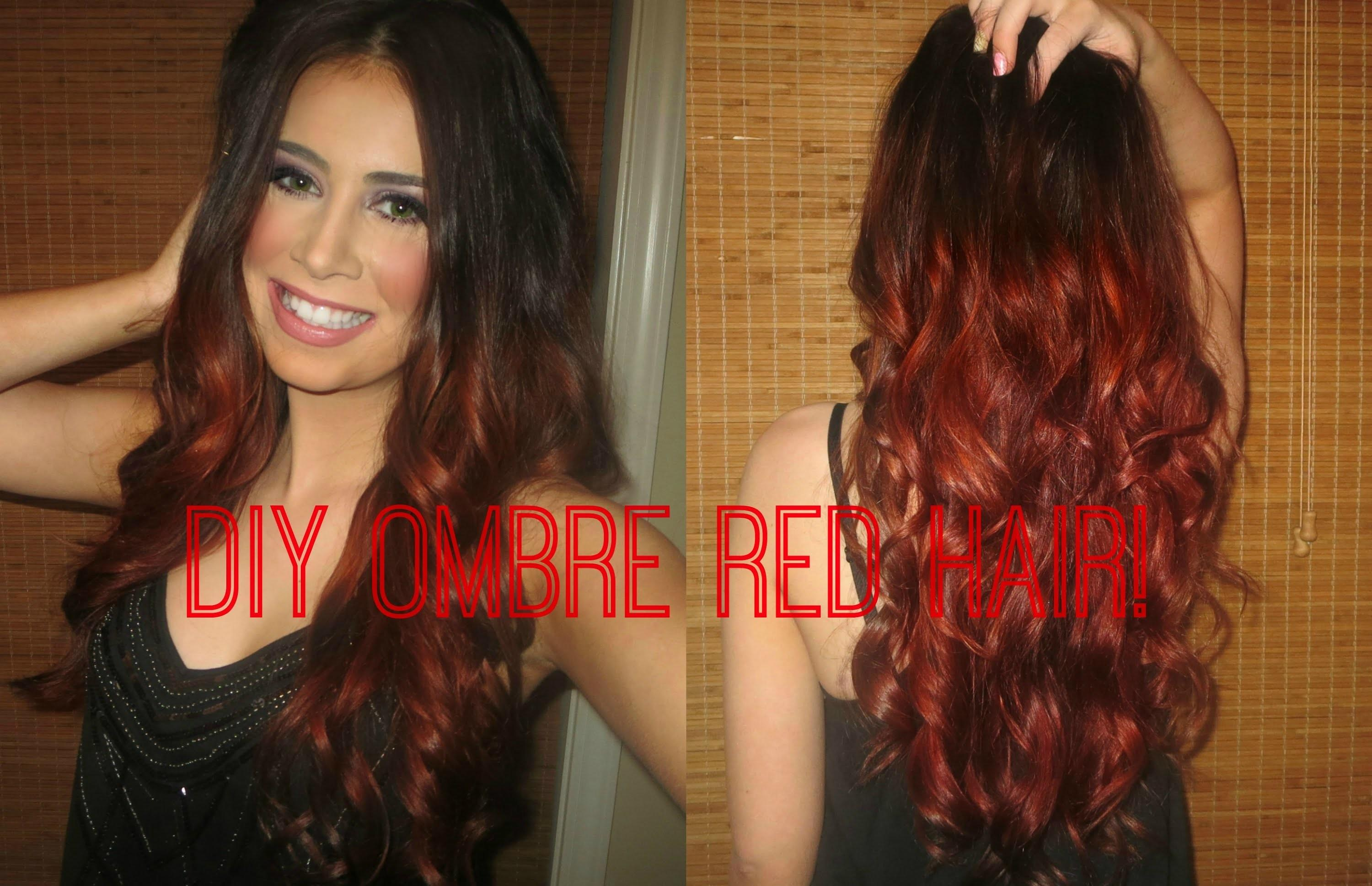 Diy Red Ombre Easy Way Achieve Blended