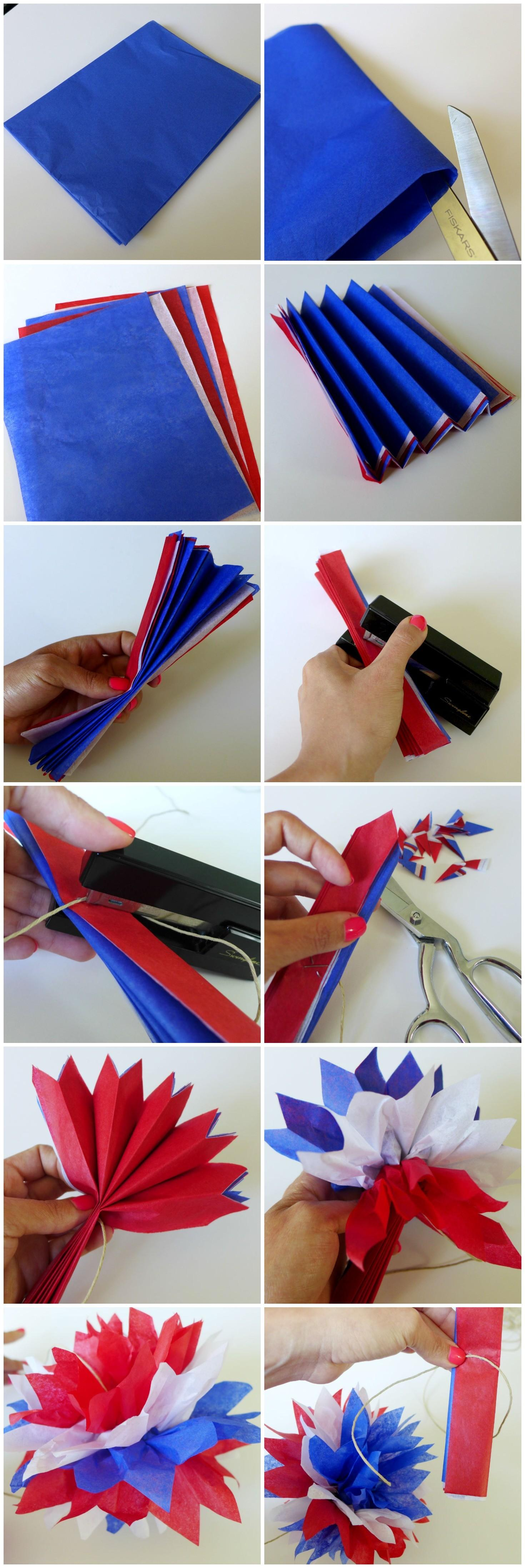 Diy Red White Blue Garlands Party People