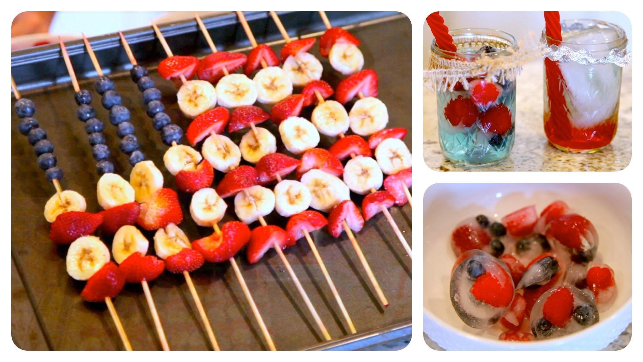 Diy Red White Blue Treats 4th July Ideas